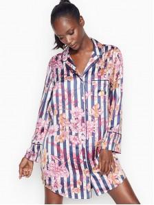Платье-рубашка шелк